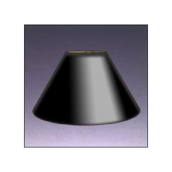 Black Parchment Coolie Lampshade With Gold Foil Lining