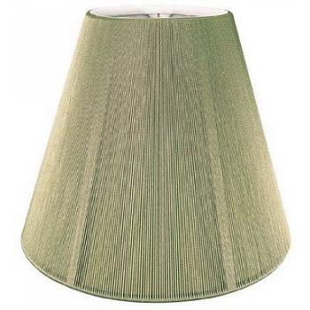 Empire Silk String Lampshade With Hand Sewn Lining